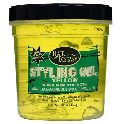 Styling Gel 16oz Yellow Super Firm Strength